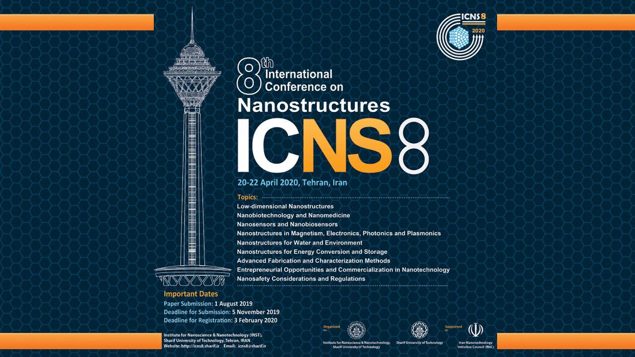 پذیرش مقاله برای هشتمین کنفرانس بینالمللی نانوساختارها آغاز شد