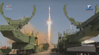 فضاپیمای سایوز همراه با یک ربات به فضا پرتاب شد